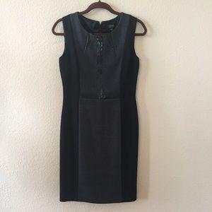 Tahari Dresses - Tahari Arthur Levine black dress faux leather 4